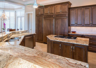 Sienna Bordeaux Granite Countertops & Island