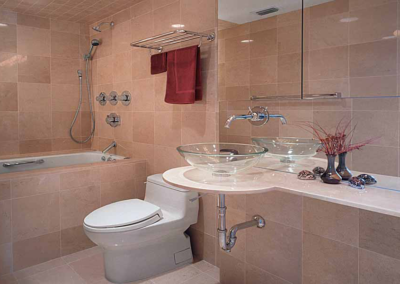 Crema Marfil Vanity & Tiles