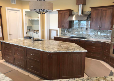 Sienna Bordeaux Granite Island