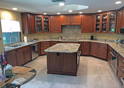 Capadocia Granite Countertops with Full Height Backsplash